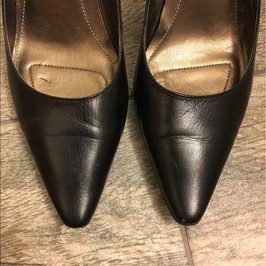 Calvin Klein Black Pointed Toe Heels